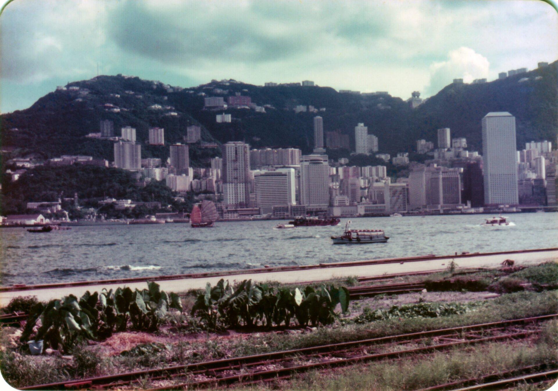 Hong Kong central from Kowloon Canton railway at Kowloon Station