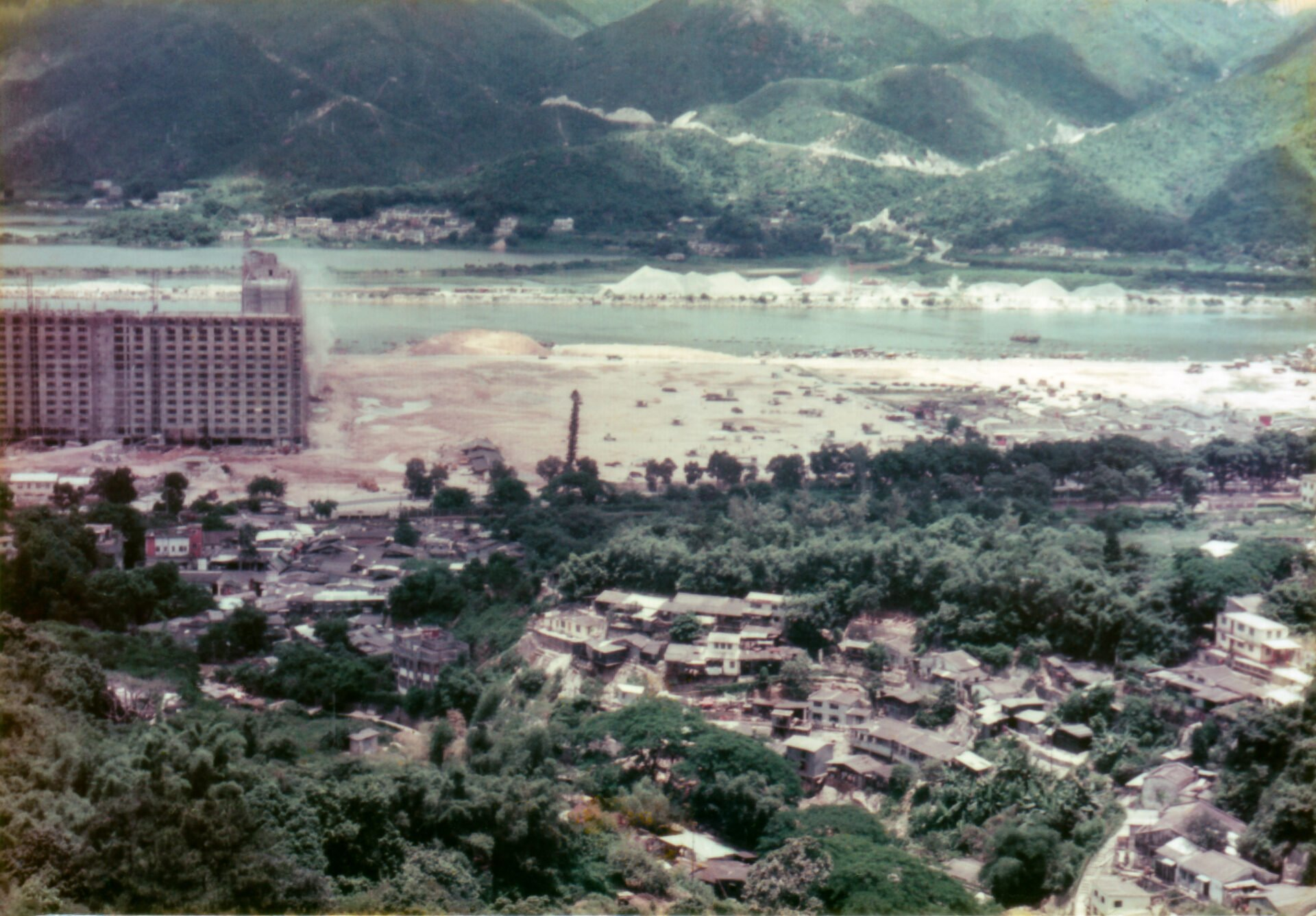 Hong Kong view from Shatin monastery in the new terrtories