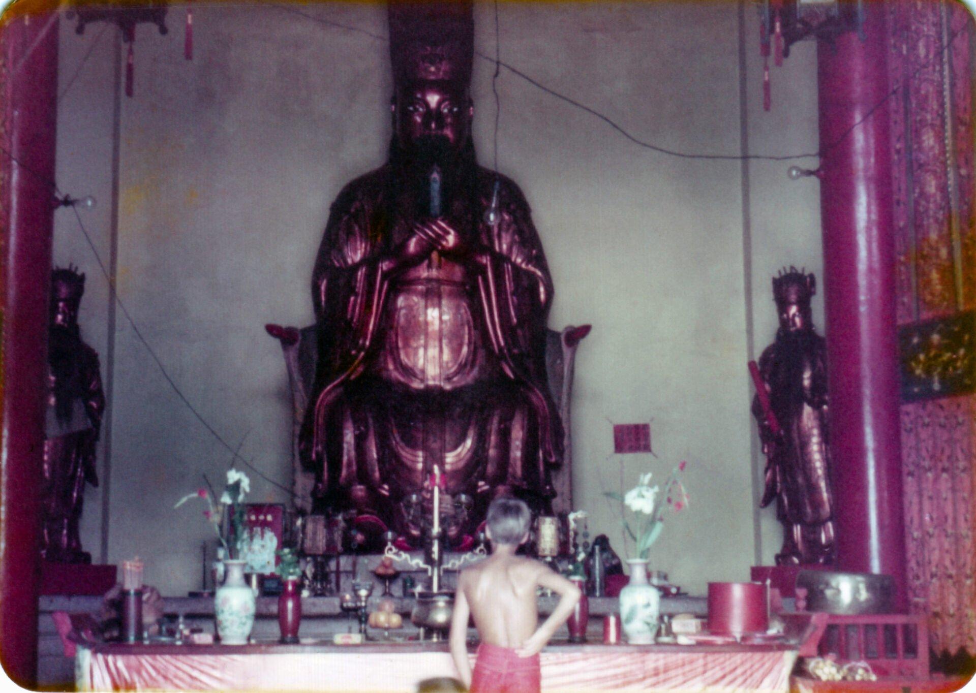 Temple in Shatin monastery Hong Kong