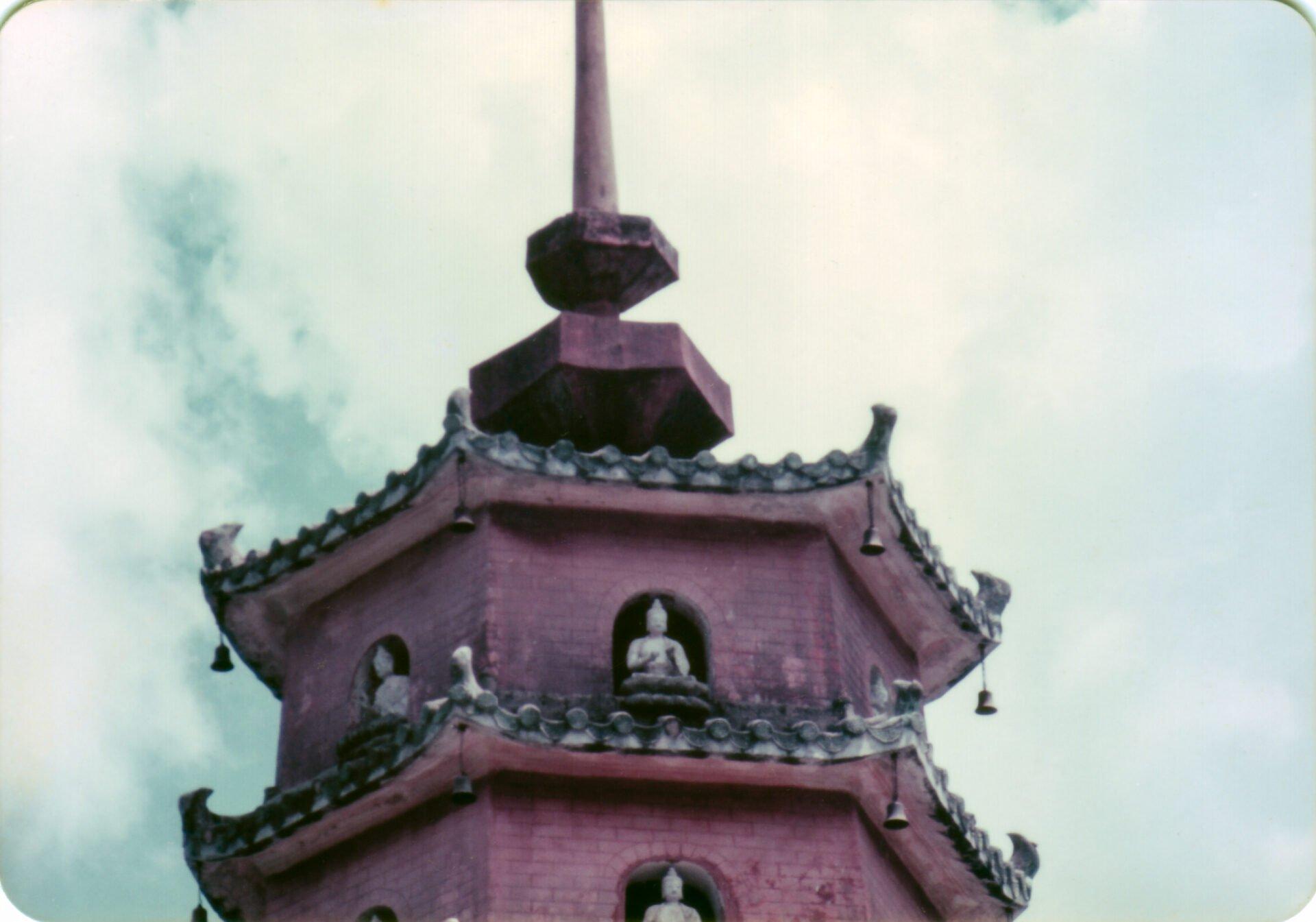 Top of Pagoda ten thousand Buddahs Hong Kong