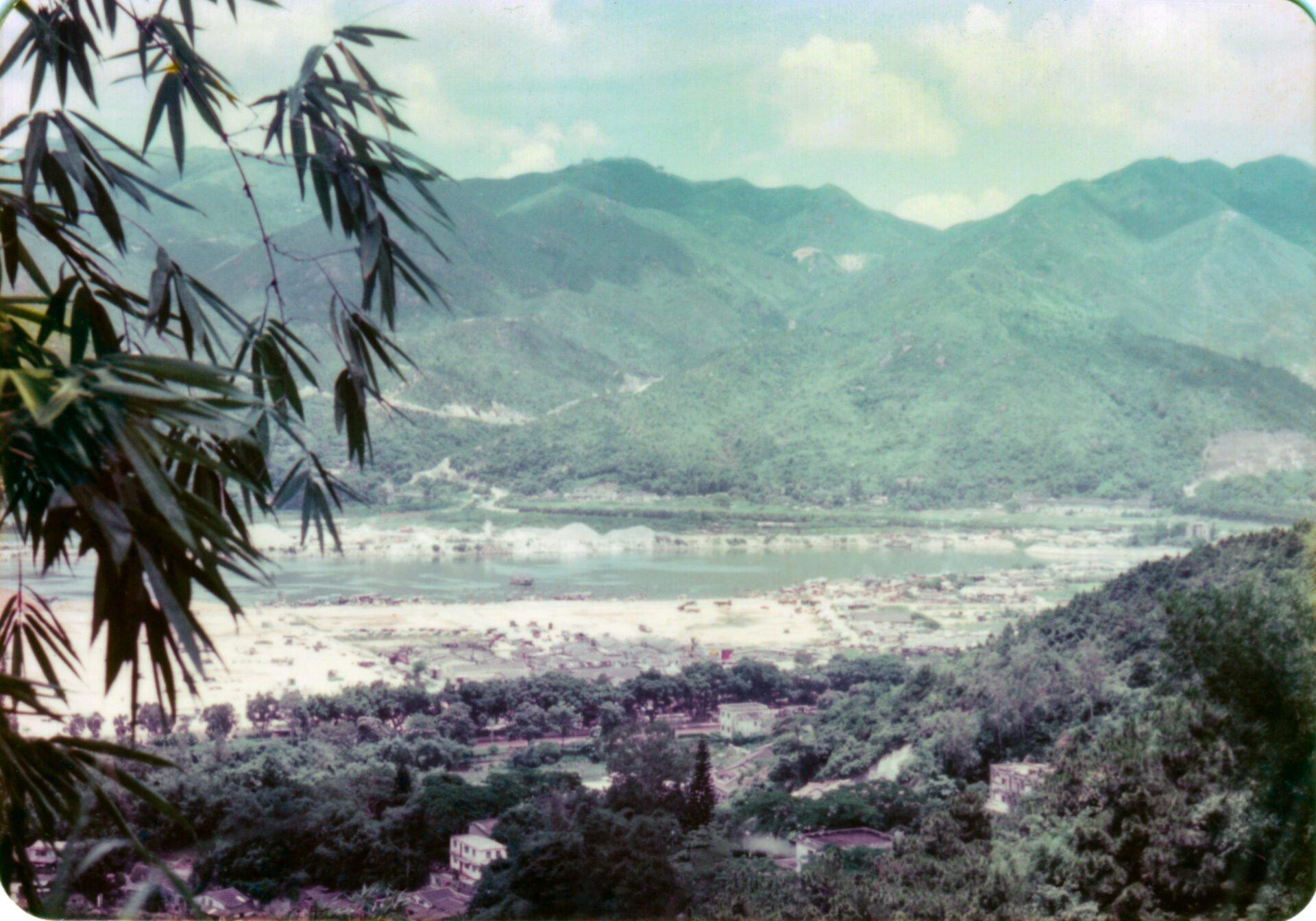 View from Shatin monastery Hong Kong